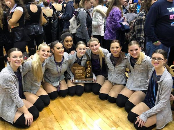 South Varsity Poms Takes 5th At State